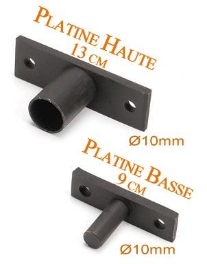 le ferronnier jeu de 2 platines de fixation rondes pour garde corps gcplatine rond. Black Bedroom Furniture Sets. Home Design Ideas