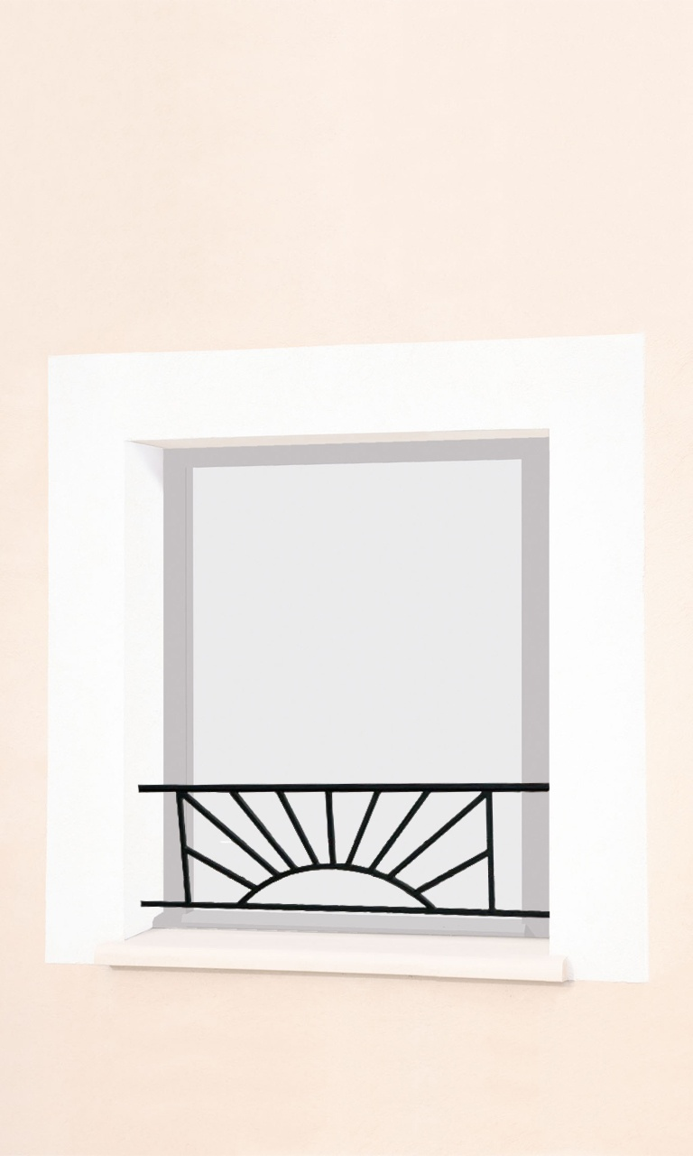 le ferronnier barre d 39 appui de fen tre en fer forg sam basam. Black Bedroom Furniture Sets. Home Design Ideas