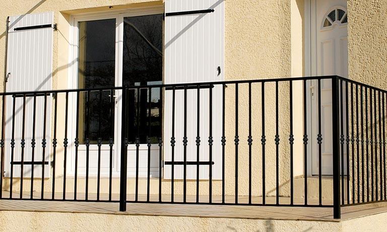 le ferronnier garde corps de terrasse en fer forg vincent gcvincent. Black Bedroom Furniture Sets. Home Design Ideas
