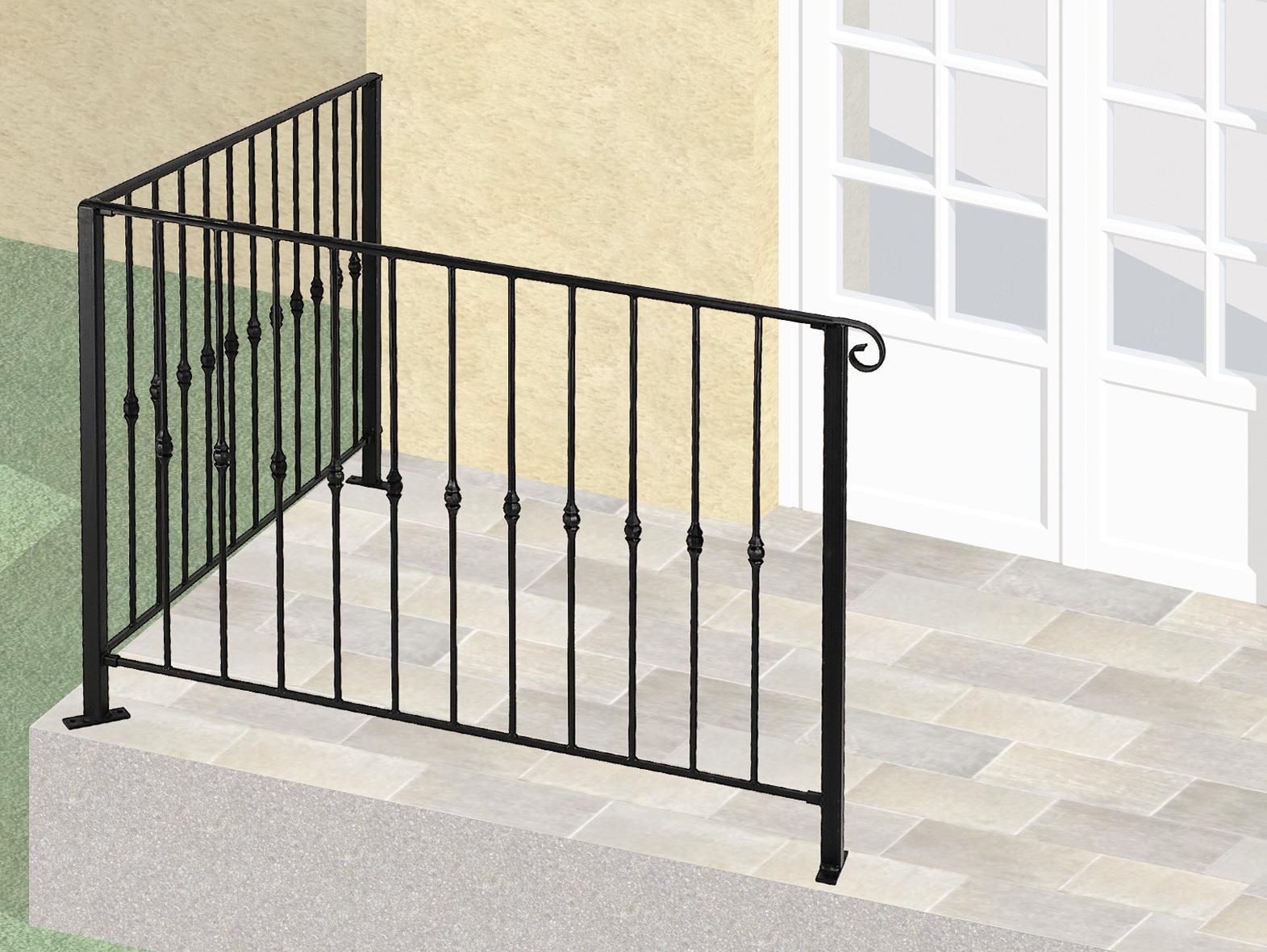 Le ferronnier balcon en fer forg dominique gcdominique - Barriere de terrasse en fer ...