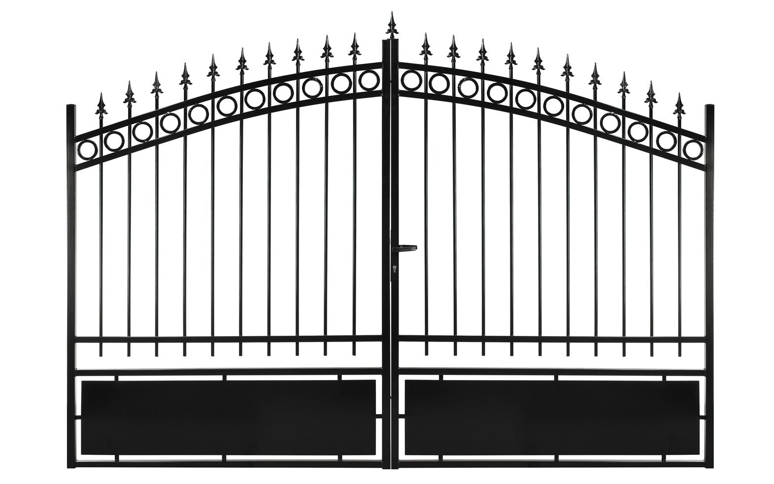 Le ferronnier gamme eco portail en fer forg mod le 2 poportail02 for Modele portail fer forge