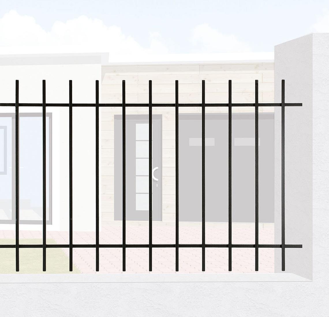 le ferronnier grille de cl ture en fer forg cl mentine. Black Bedroom Furniture Sets. Home Design Ideas