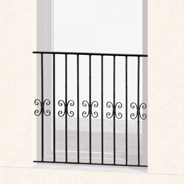 Garde corps de fenêtre en fer forgé Aude