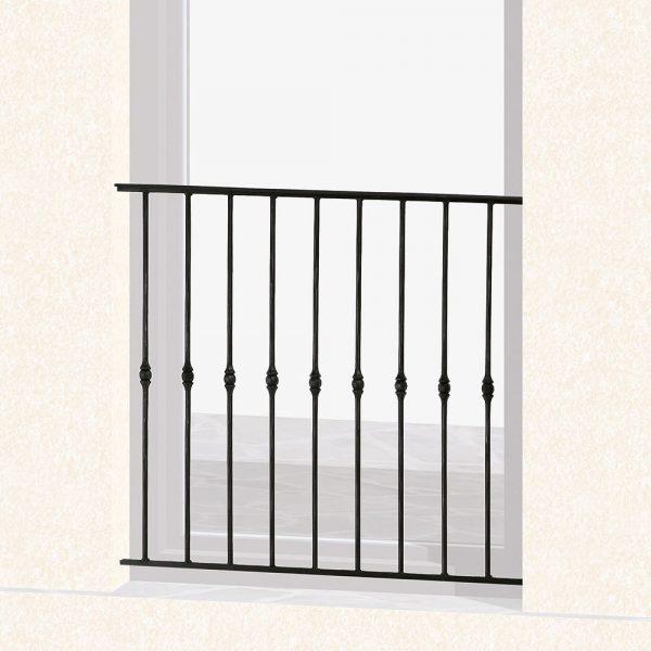 Garde corps de fenêtre en fer forgé Dominique