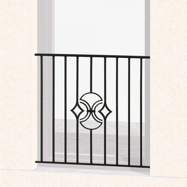 Garde corps de fenêtre en fer forgé Natanel