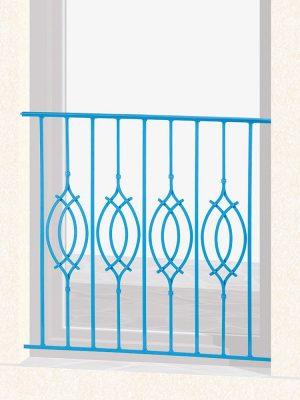 Garde corps de fenêtre en fer forgé Roméo
