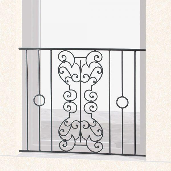 Garde corps de fenêtre en fer forgé Valentin