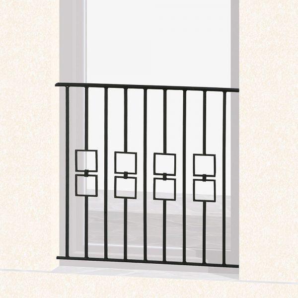 Garde corps de fenêtre en fer forgé Volny