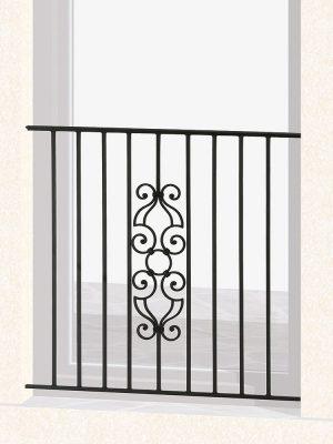 Garde corps de fenêtre en fer forgé Voltaire