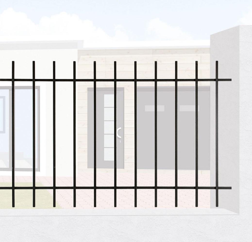 grille de cl ture en fer forg cl mentine leferronnier. Black Bedroom Furniture Sets. Home Design Ideas