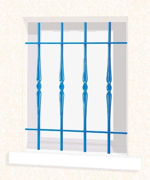 Grille de fenêtre en fer forgé Armelle