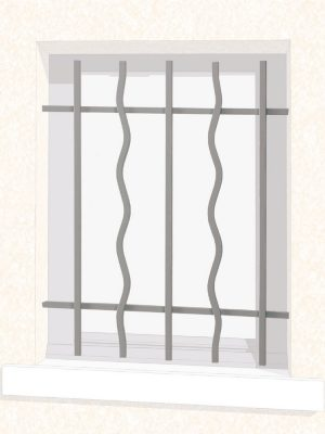 Grille de fenêtre en fer forgé Aurore