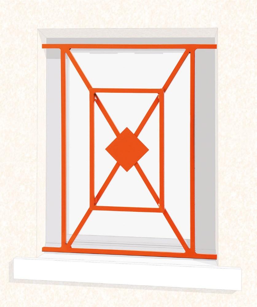 Grille de fenêtre en fer forgé Chloé