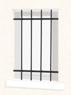 Grille de fenêtre en fer forgé Clémentine Économique