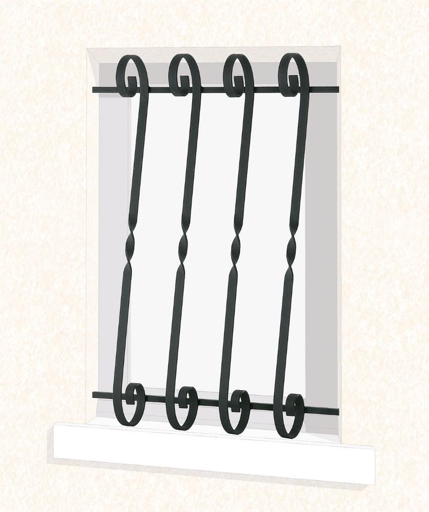 grille de fen tre en fer forg eva leferronnier. Black Bedroom Furniture Sets. Home Design Ideas