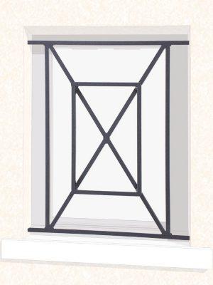 Grille de fenêtre en fer forgé Géraldine
