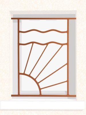Grille de fenêtre en fer forgé Harry