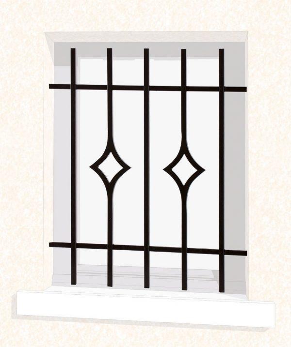 Grille de fenêtre en fer forgé Lydie