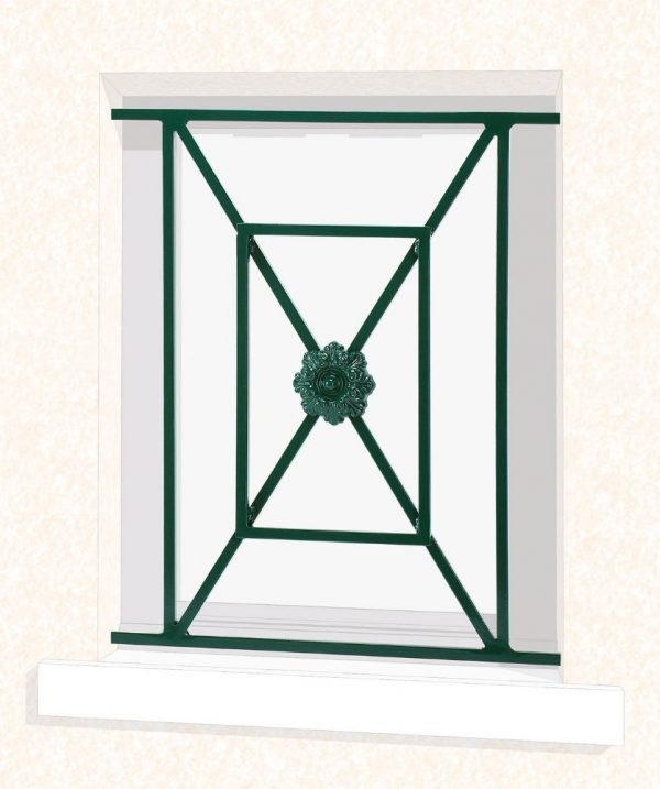 Grille de fenêtre en fer forgé Noémie