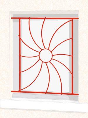 Grille de fenêtre en fer forgé Odelia