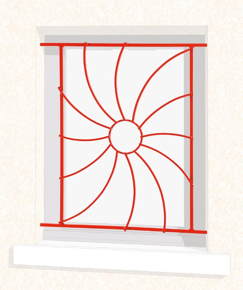 grille de fen tre en fer forg odelia leferronnier. Black Bedroom Furniture Sets. Home Design Ideas