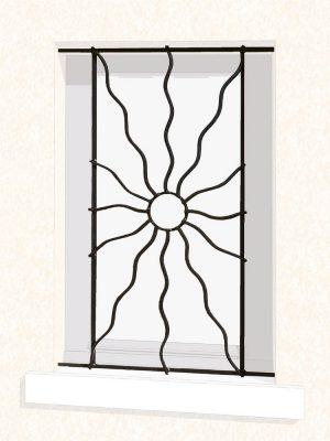 Grille de fenêtre en fer forgé Périne
