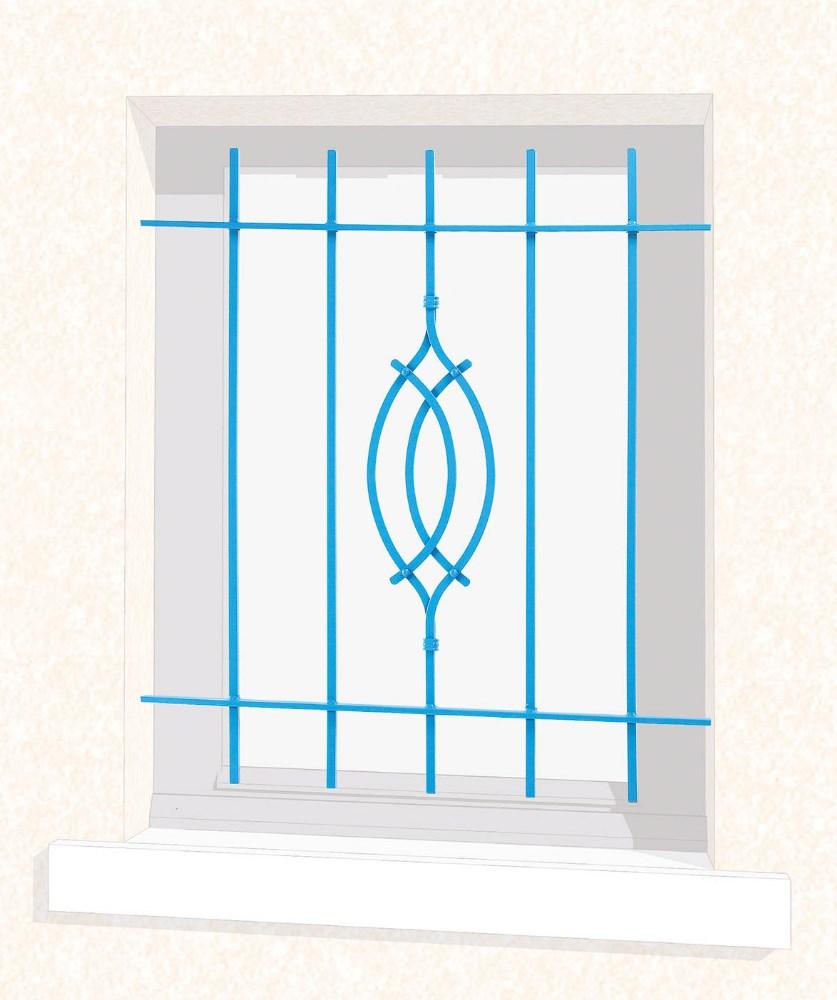 Grille de fenêtre en fer forgé Roméo