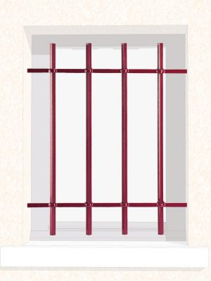 Grille de fenêtre en fer forgé Rose