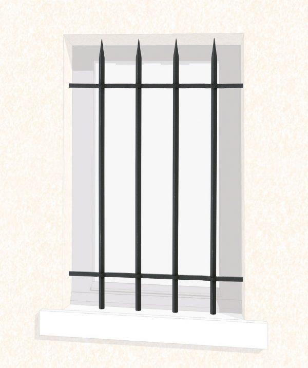 Grille de fenêtre en fer forgé Rose appointée