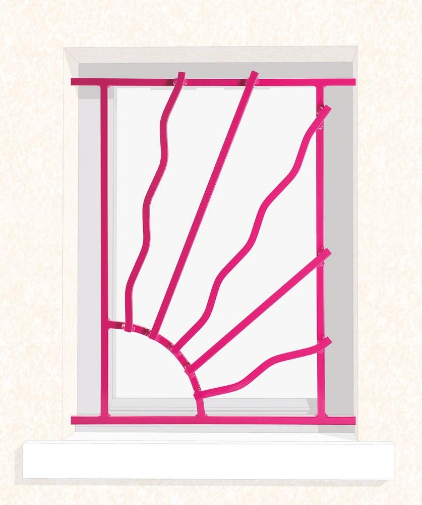 Grille de fenêtre en fer forgé Sybille