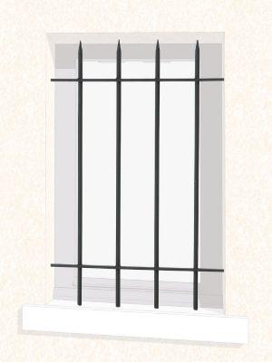 Grille de fenêtre en fer forgé Viviane