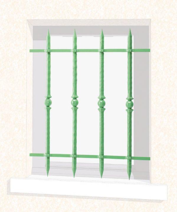 Grille de fenêtre en fer forgé Vivienne