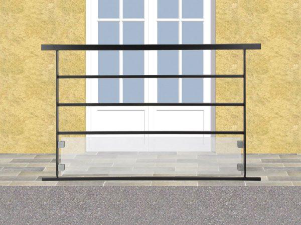 Garde corps de terrasse en fer forgé Rodolphe