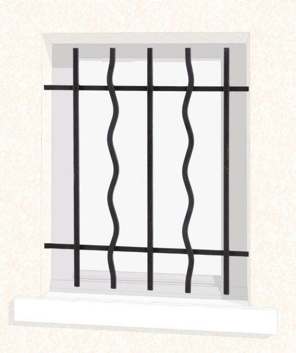 Grille de fenêtre en fer forgé Aurore Économique