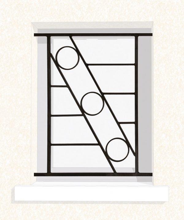 Grille de fenêtre en fer forgé Orion
