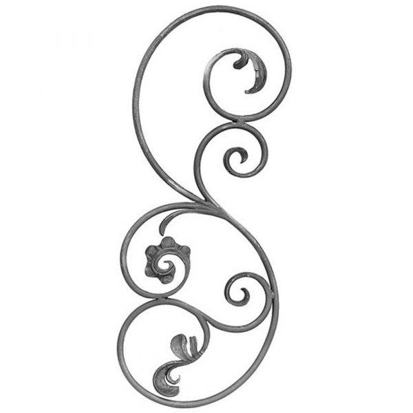 Pannello in ferro battuto (FER685/3)