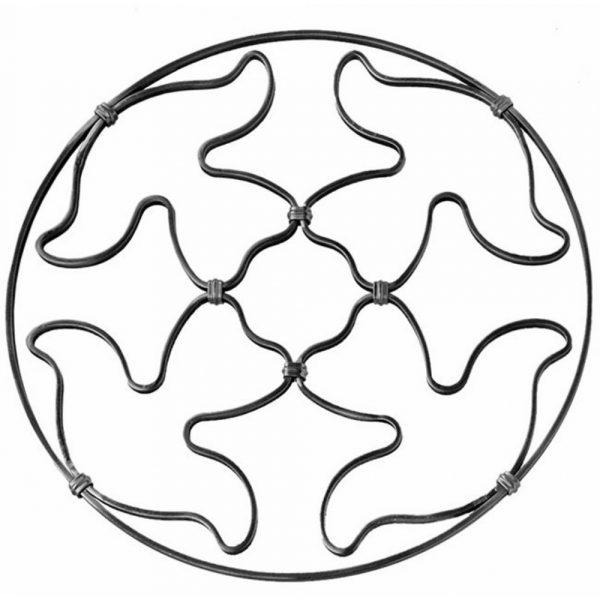 Rosace en fer forge (FER1639/4)