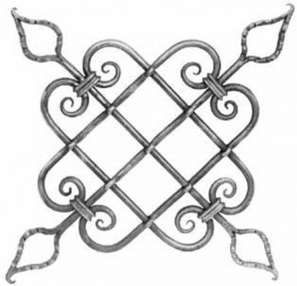Rosace en fer forge (FER679/1)