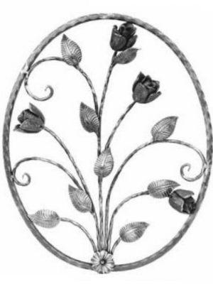 Rosace en fer forge (FER720/1)
