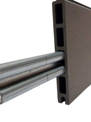 Renfort en acier galvanisé pour Lame de clôture composite