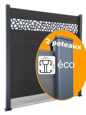 Composite Éco : Kit de démarrage 2 poteaux pour Clôture 180cm