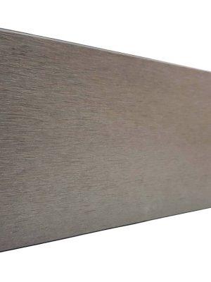 Lame de finition Gris Quartz pour clôture composite