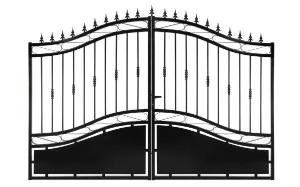 Portail en fer forgé Modèle 4 Noir Gamme Eco
