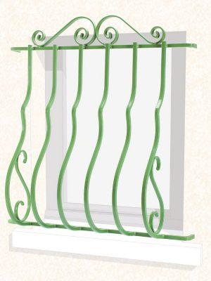 Grille de fenêtre pose en Façade Camille